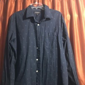 Banana Republic navy blue button down shirt XL